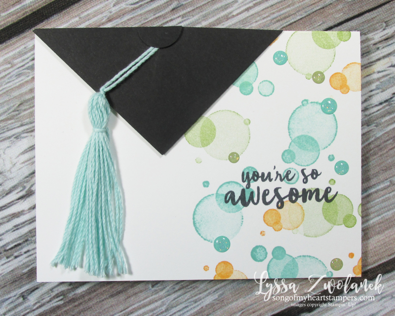 Graduation Cap card beauty abounds stampin up rubber stamping techniques