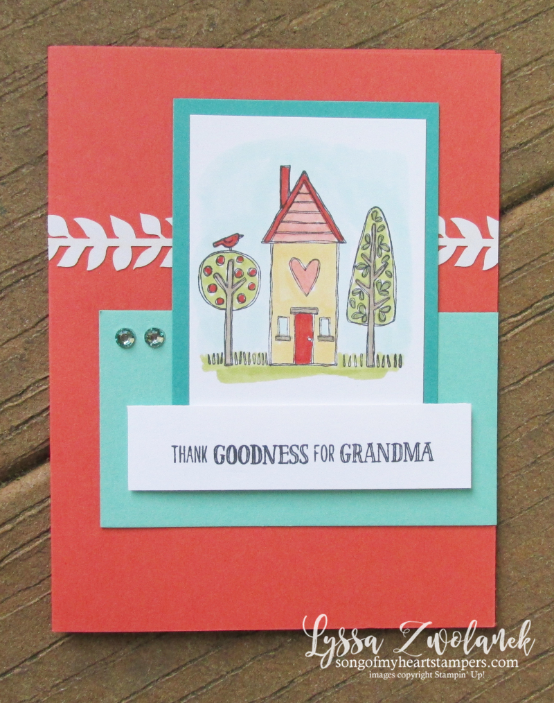Grandma house grandkids stamps baby child Stampin Up grandparents set