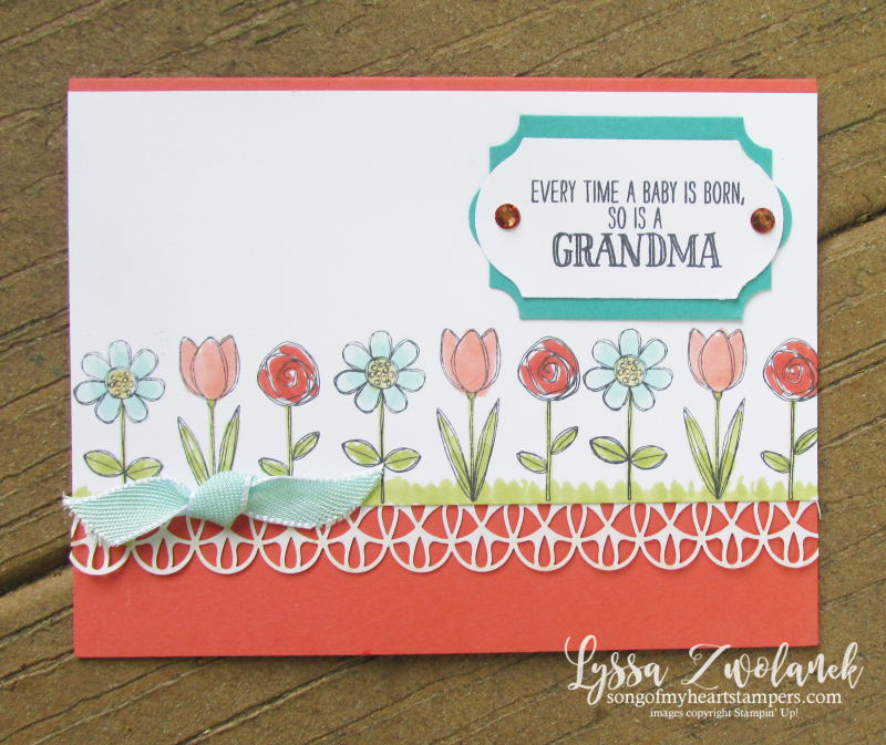 Grandma house grandkids stamps baby child Stampin Up grandparent set