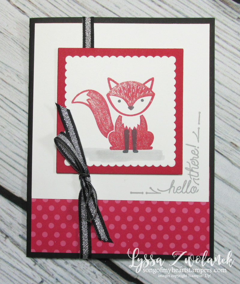 Foxy friends punch art around corner rubber stamps satmpin up DIY cardmaking sketches