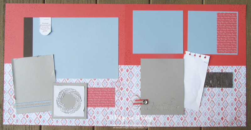 31 pages days scrapbooking 12x12 layouts SU only page ideas scrapbook album 10