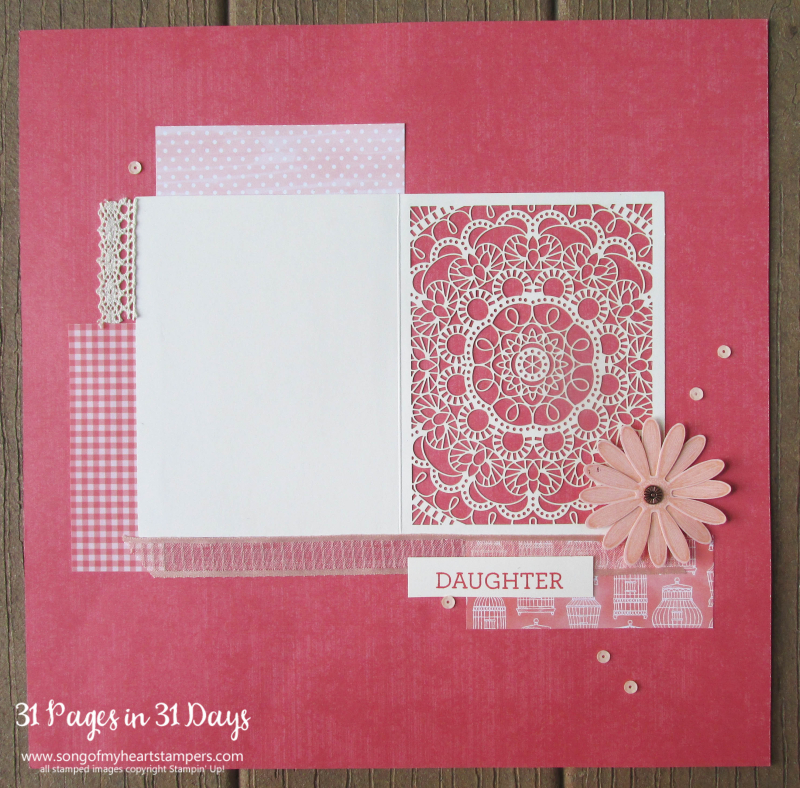 31 pages days scrapbooking 12x12 layouts SU only page ideas scrapbook album 8