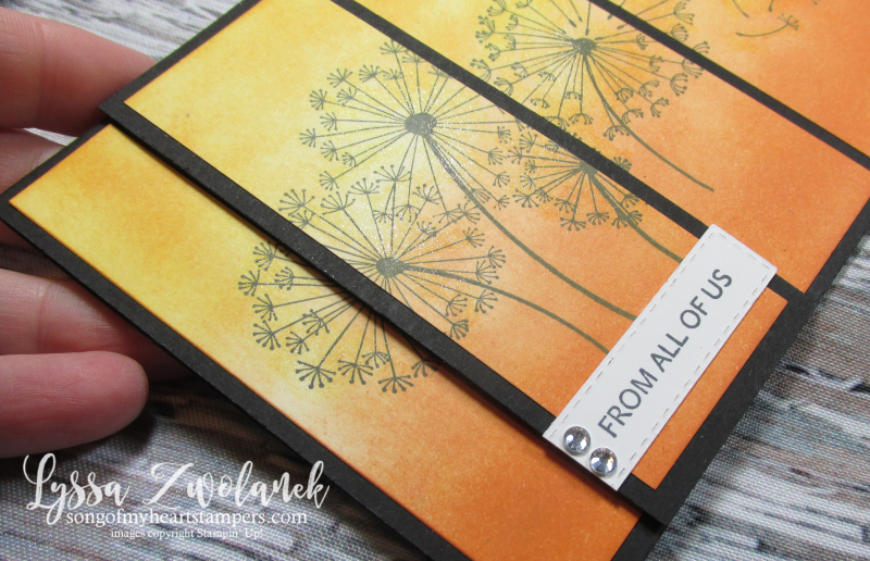Dandelion Wishes wind seeds blowing Stampin Up sympathy sunset rubber stamping DIY