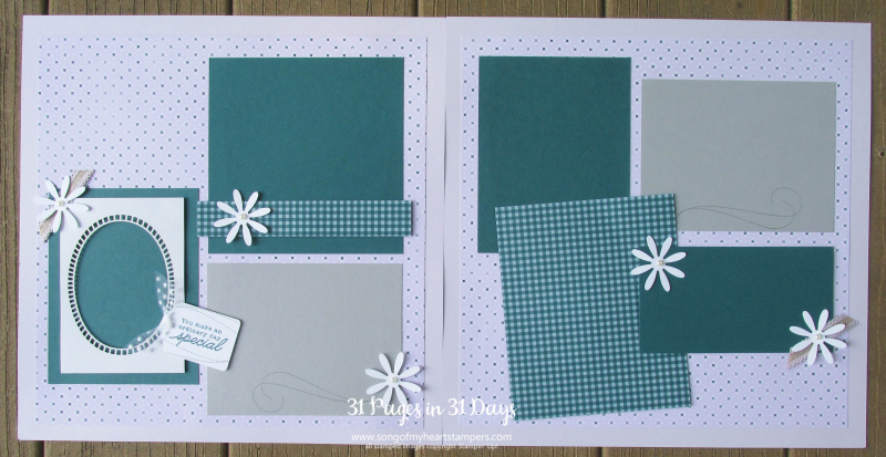 31 pages days scrapbooking 12x12 layouts SU only page ideas scrapbook album 13