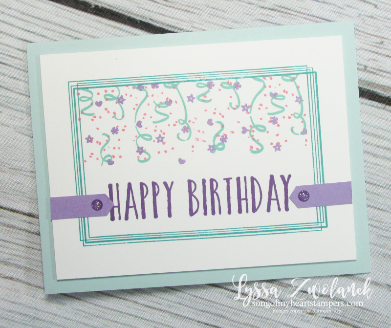 Brthday backgrounds stampin up cardmaking DIY rubber stamps swirly frames masking technique