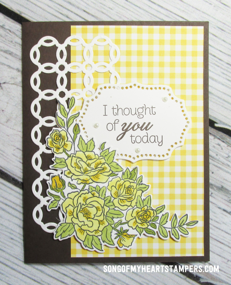 OnStage stampin up rubber stamps rose trellis lattice dies