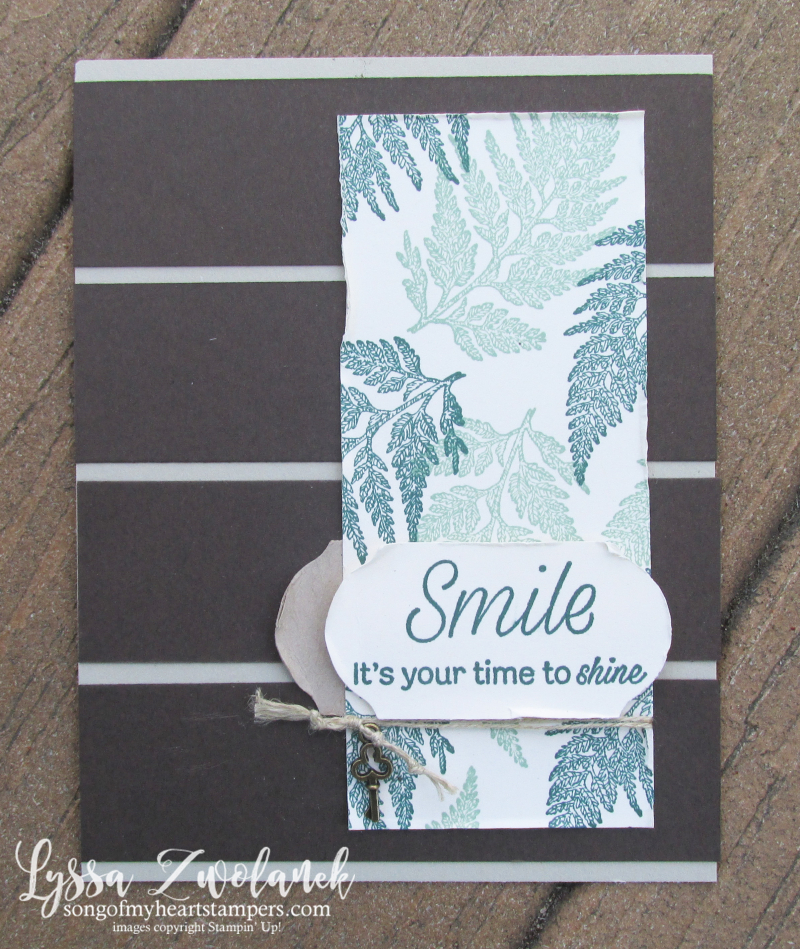 Daisy Lane stampin up fern rubber stamps layouts technique sketches Lyssa