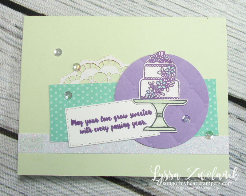 Bakery Builder punch Piece of Cake Stampin Up wedding birthday anniversary card DIY
