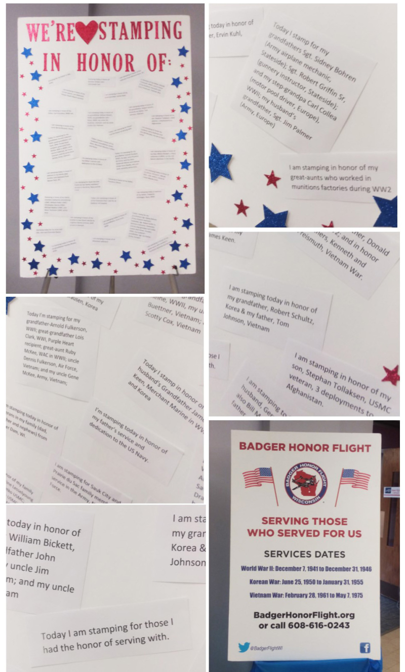Honor Flight collage 7 stampin up