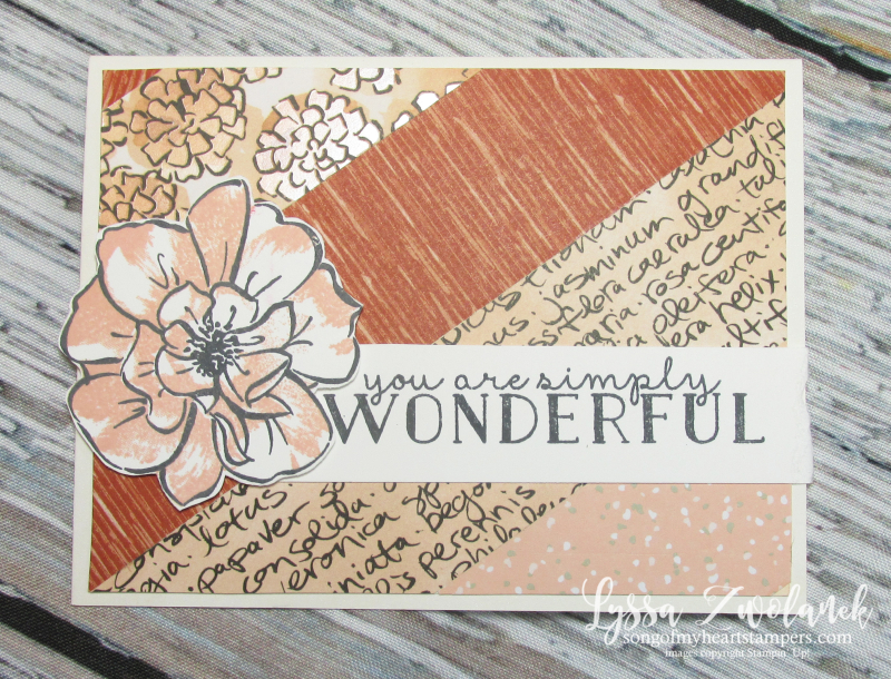 Blessed to know you wild rose Stampin up stamping techniques background paper scraps Lyssa