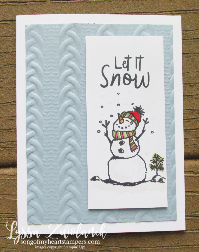 Snowman season bundle stampin up bunch rubber stamping DIY holdiay Christmas cards ideas
