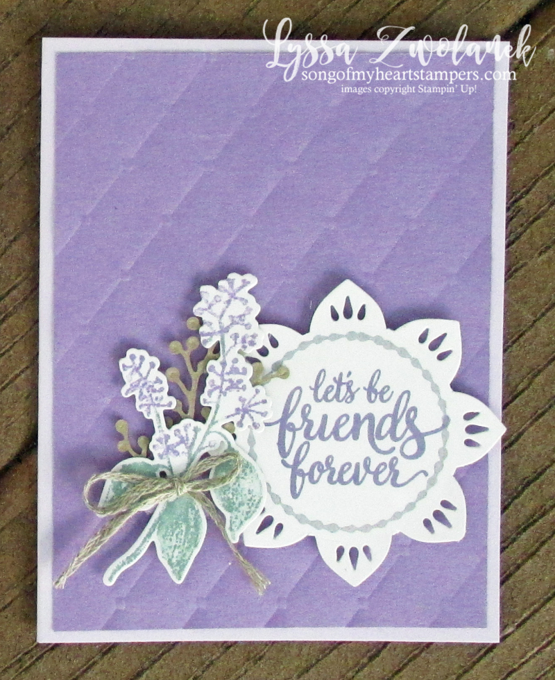 Eastern palace dies stampin up cardmaking ideas tufted first frost
