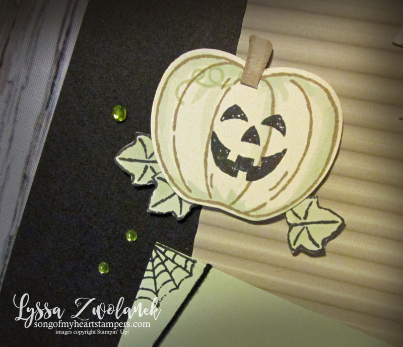Halloween blog series rubber stamping DIY home decor ghost pumpkin scrapbooking Stampin Up Monster Bash Penni Lyssa october