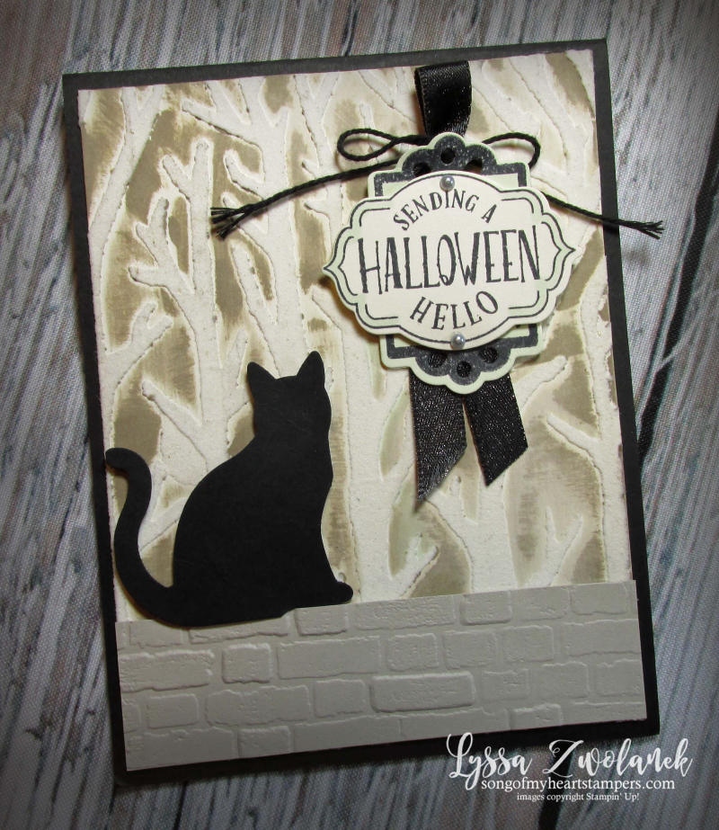 Halloween hello tags trio Stampin Up fall autumn craft supplies rubber stamps scrapbooking