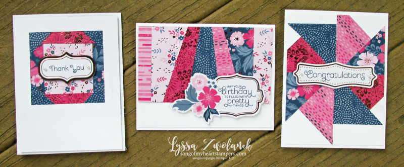 Everything is rosy card kit stampin up Lyssa quilts class cardmaking