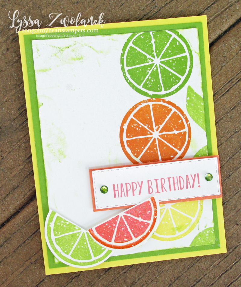 Lemon Zest lime orange fruit twist punch kitchen summer lemonade Stampin Up rubber stamps