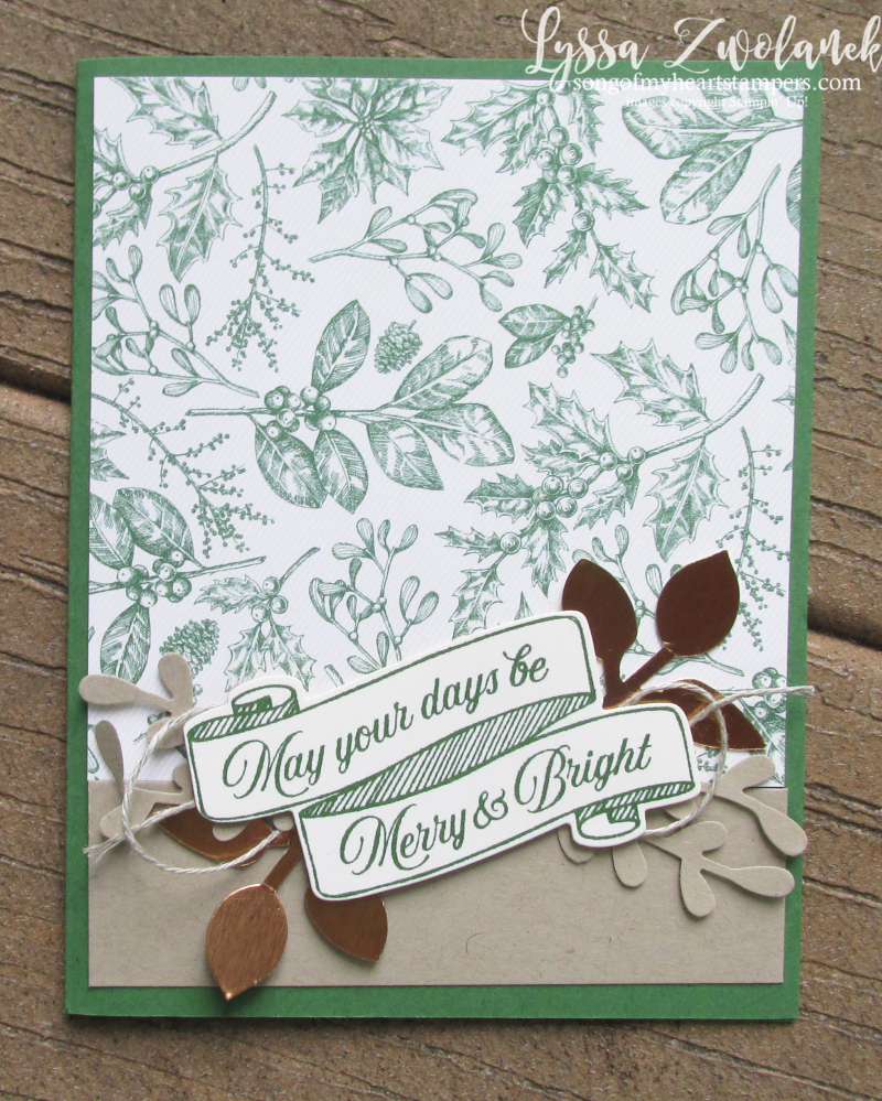 Toile Christmas Tidings Cardinal holiday Stampin Up cardmaking stamps DIY cards nature rustic