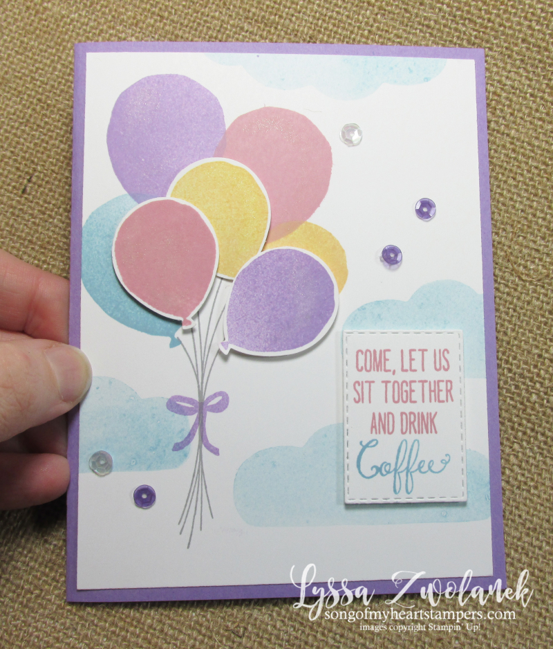Balloon Celebration Stampin Up birthday skies technique DIY cardmaking rubber stamps