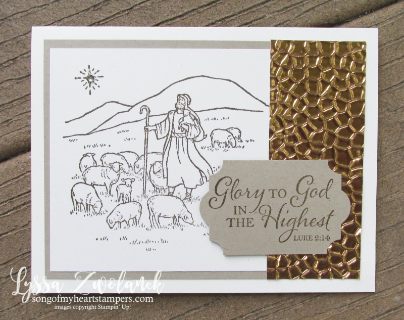 Light and Peace stamp set Stampin Up Christmas holiday shepherds angel glory God highest cards