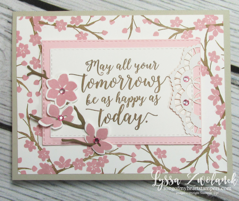 Colorful season seasonal layers thinlets Stampin up cherry blossom magnolia branches blooms