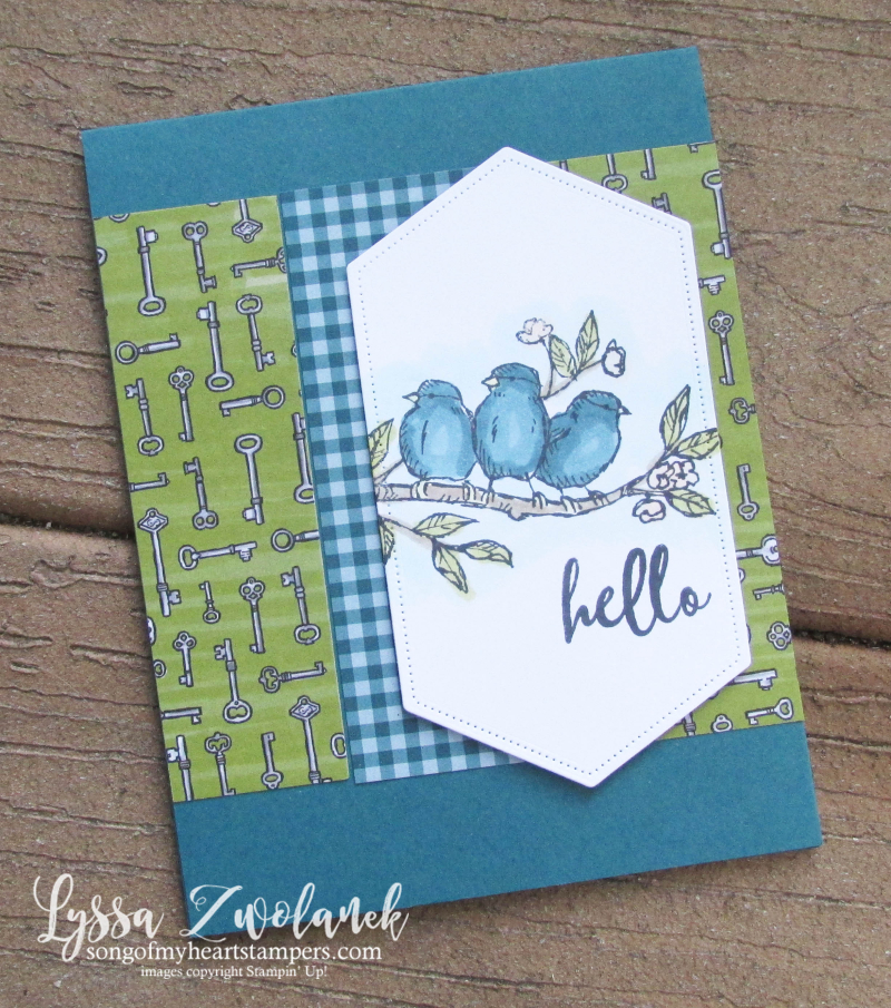 Bird Ballad Free Stampin Up rubber stamps peacock Blends Lyssa cardmaking