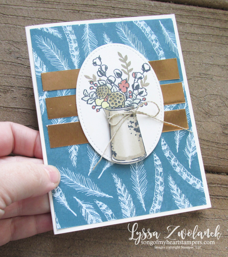 Country Home farmhouse style rubber stamps cotton bolls Stampin Up Lyssa DIY cardmaking