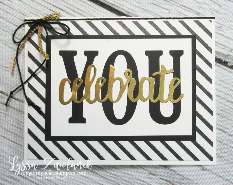 Celebrate you graduation card sizzix Large Letters congrats grad Stampin