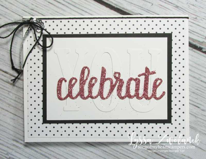 Celebrate you graduation card Large Letters congrats grad Stampin up