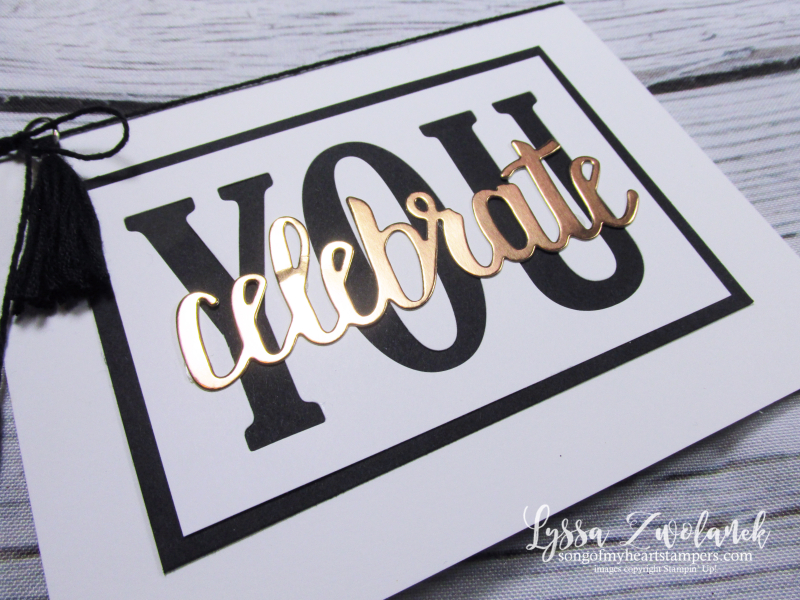Celebrate you graduation card sizzix Large Letters congrats grad Stampin up