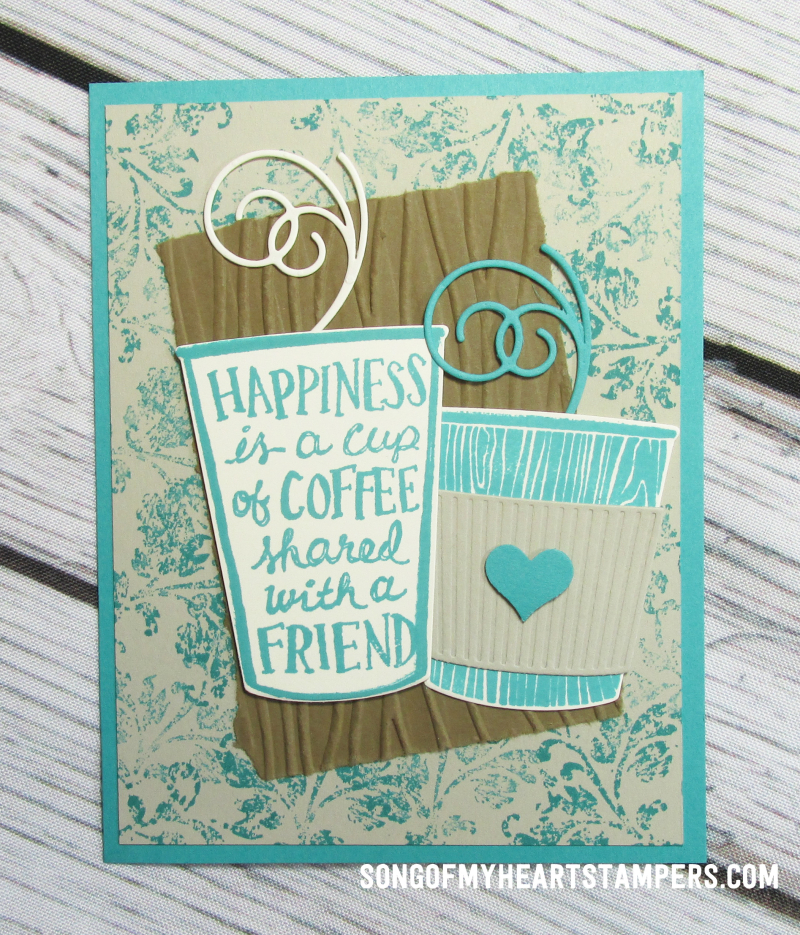 OnStage stampin up rubber stamps vintage coffee lovers