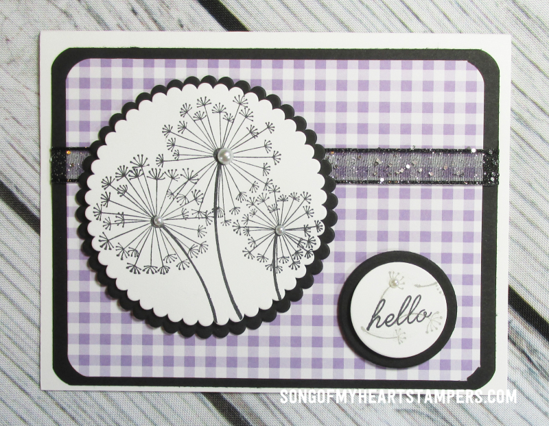 Onstage spring mini catalog stampin up dandelion wishes  rubber stamps