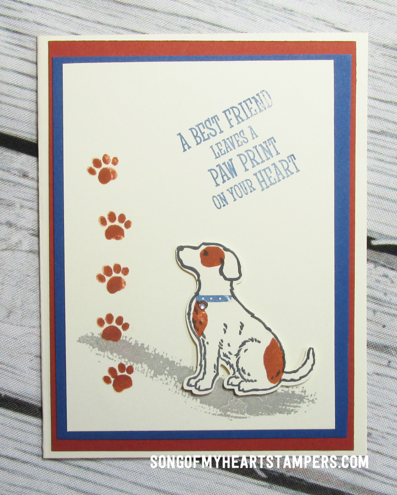 Onstage spring mini catalog stampin up happy tails dog punch rubber stamps