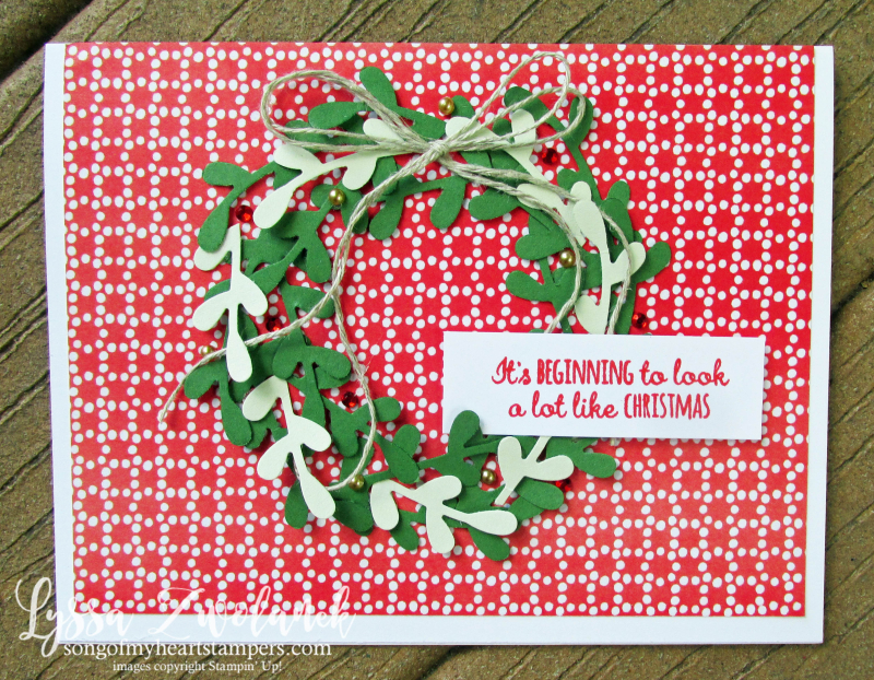 Christmas holiday wreath sprig punch Stampin Up cards stamps ideas Lyssa