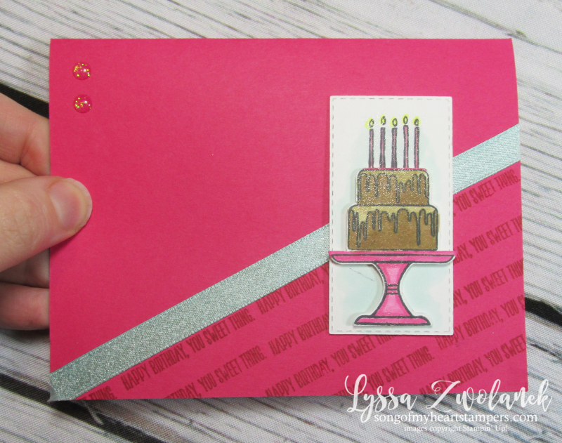 Piece cake builder punch Stampin Up bundle birthday tutorial layouts techniques