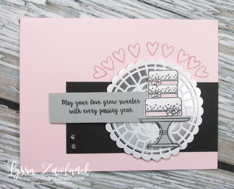 Cake cut punch bundle rubber stamps stampin up Lyssa class club  piece