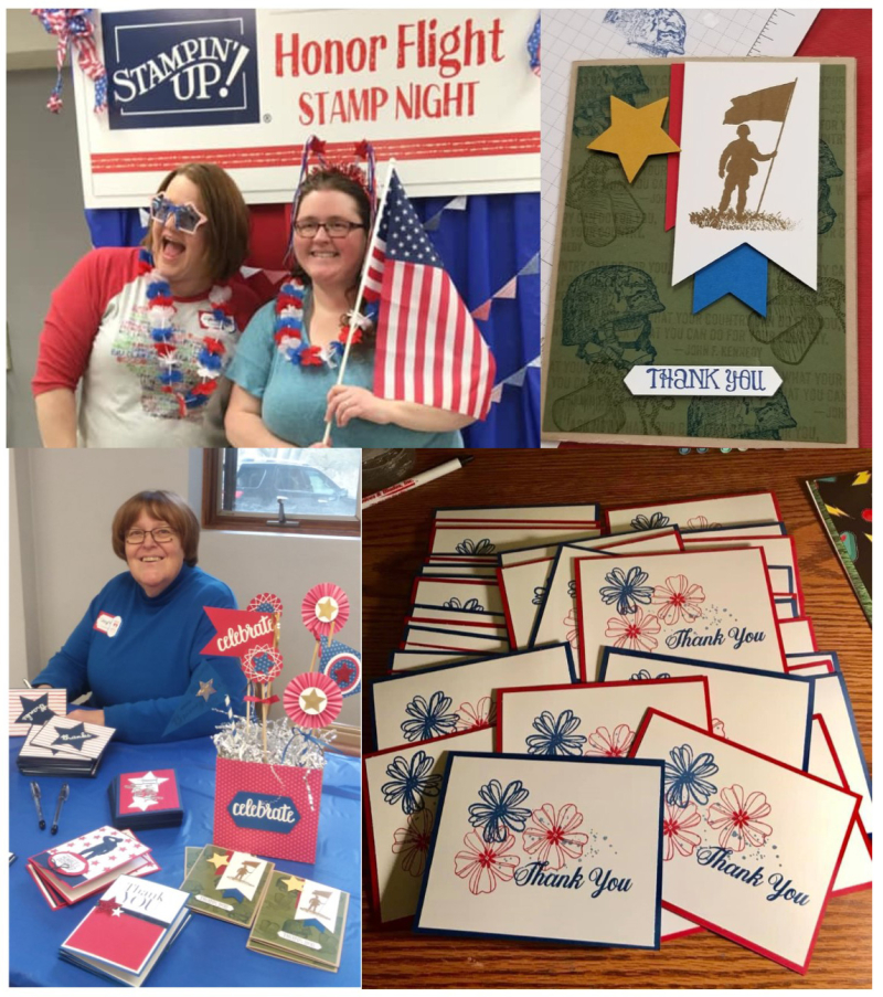 Honor Flight collage 1 stampin up