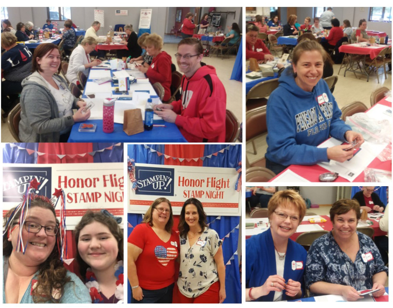 Honor Flight collage 4 stampin up