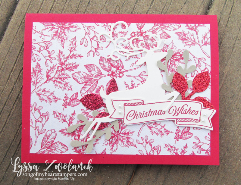 Toile tidings Christmas holiday DIY cardmaking Stampin Up dashing deer dies