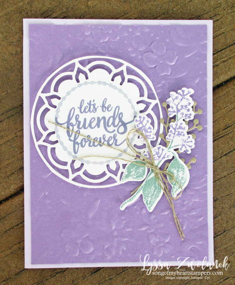 Eastern palace dies stampin up cardmaking ideas country floral first frost