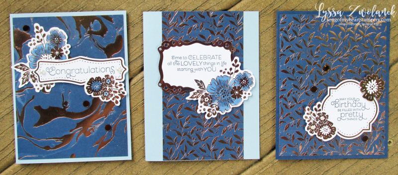 Everything is rosy card kit stampin up Lyssa quilts rose gold foil cardmaking