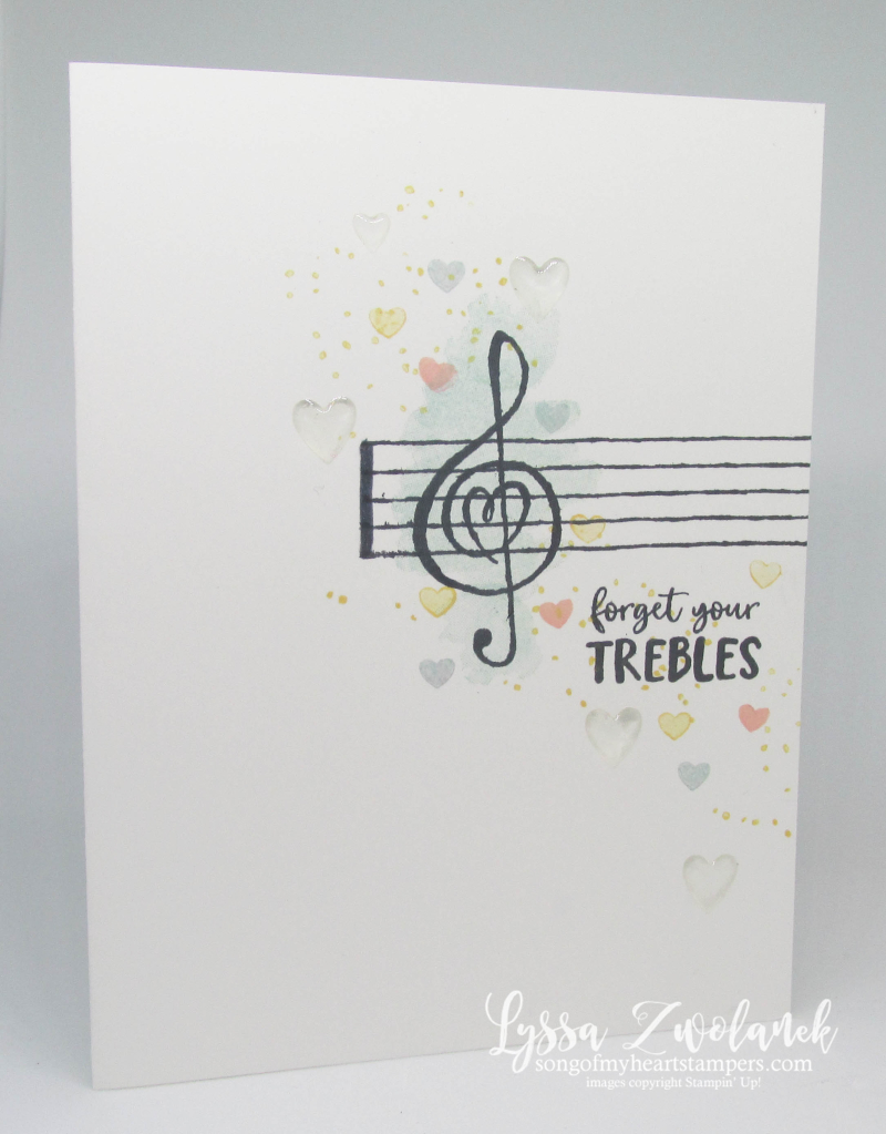 Music from the heart Stampin Up Lyssa musical notes trebles rubber stamps