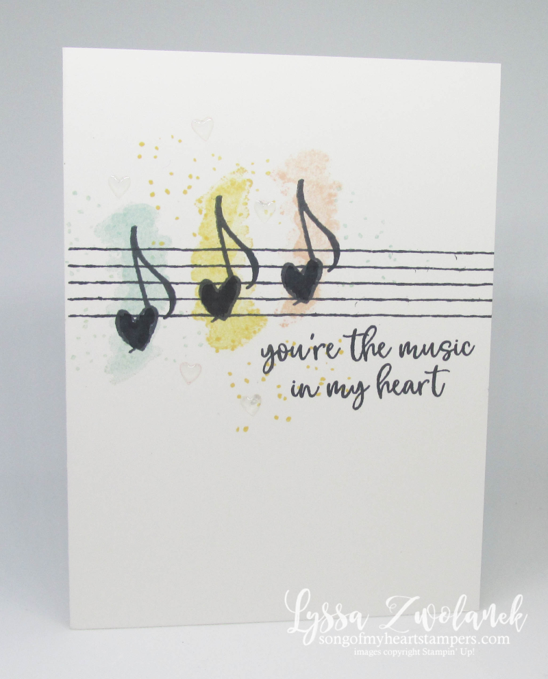 Music from the heart Stampin Up musical notes rubber stamps