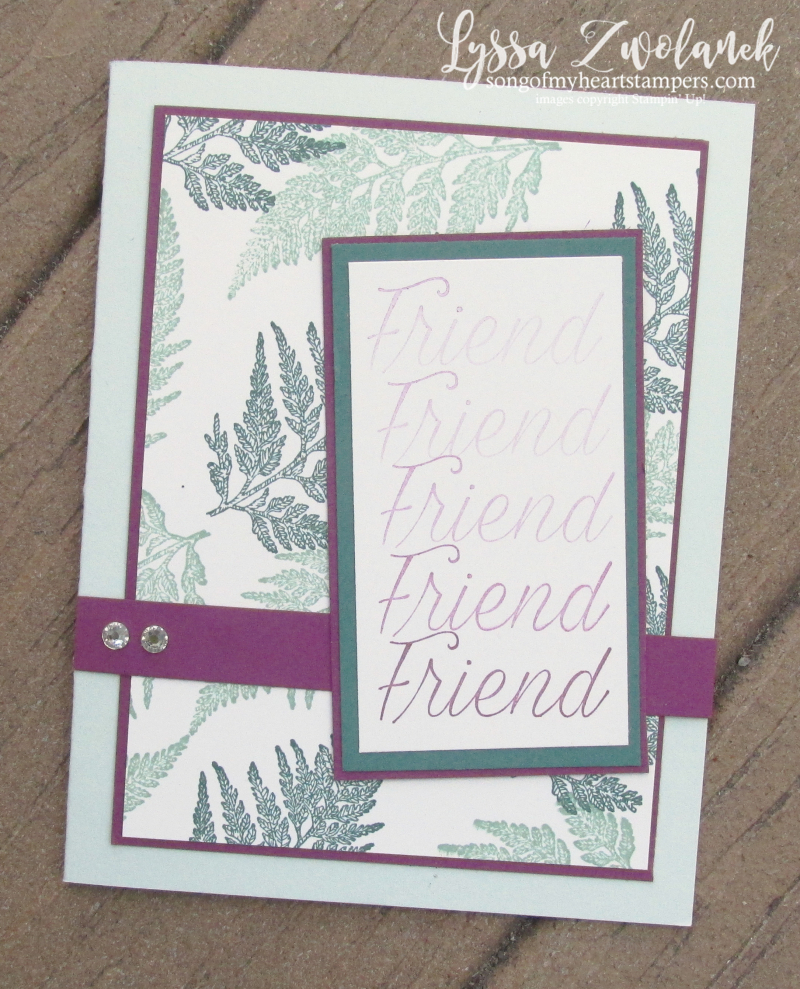 Daisy Lane stampin up fern rubber stamps layout ombre technique sketches Lyssa
