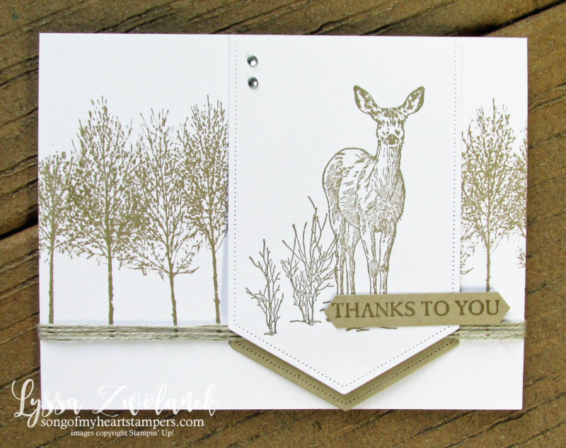 Natures beauty Stampin Up rubber stamps DIY cardmaking fall winter Christmas deer woods  fox