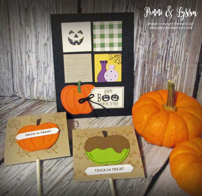 Halloween blog series rubber stamping DIY sucker covers treat tutorial papercrafts Stampin Up Monster Bash Penni Lyssa october