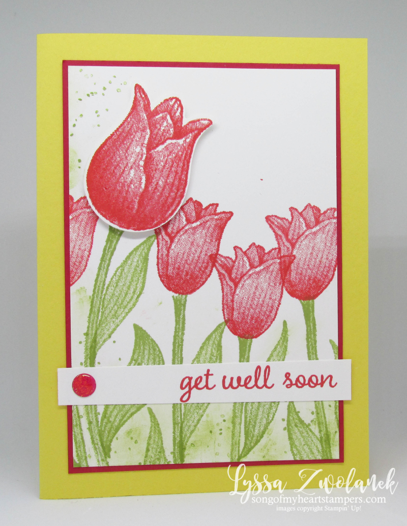 Timeless Tulips stamp set punch Stampin Up tulip garden sympathy