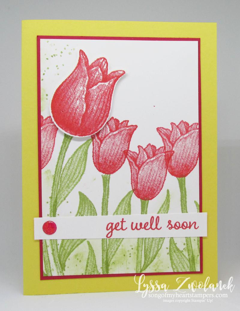 Timeless Tulips stamp set punch Stampin Up tulip garden sympathy