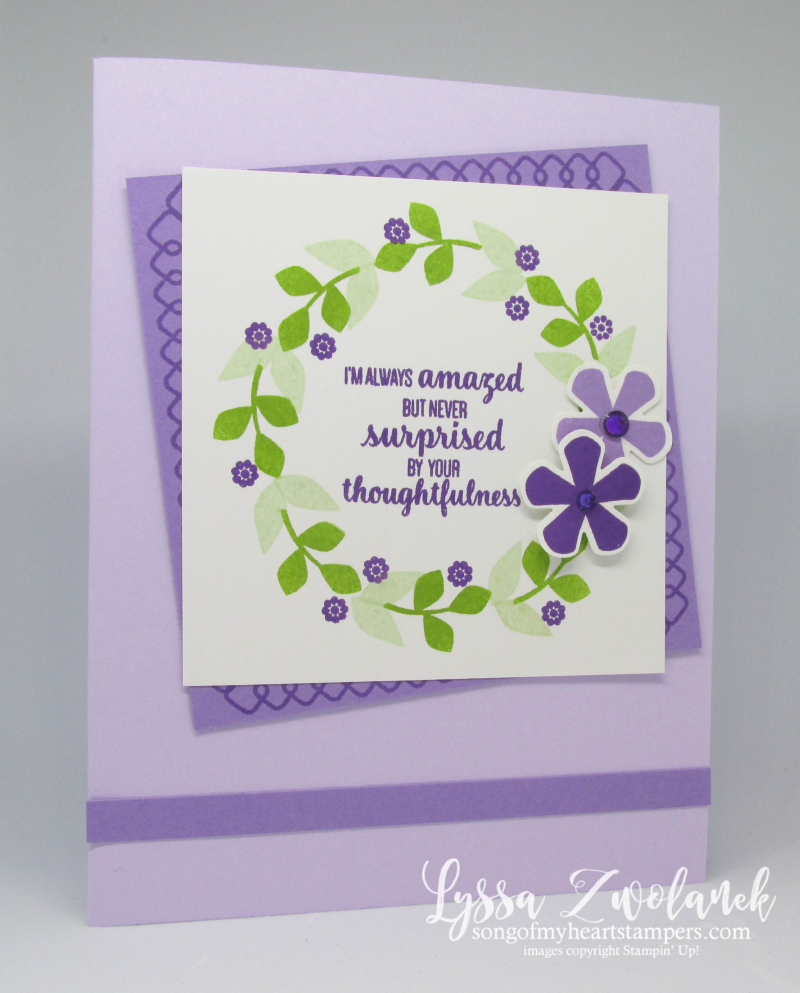 Thoughtful Blooms Stampin Up saleabration SAB rubber stamps punches blossoms flowers