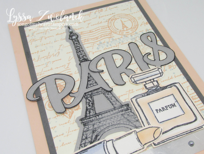 Eiffel tower paris parisian rubber stamps Stampin Up collage travel vintage cards