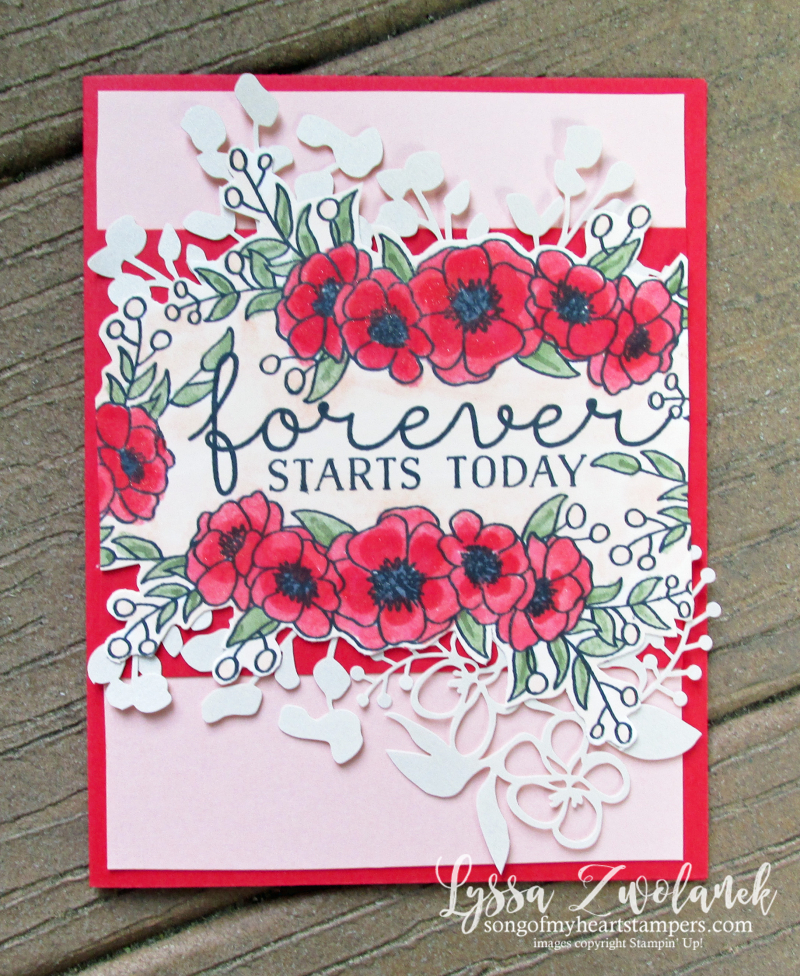 Boom and Grow stamp set budding floral wedding anniversary cards Stampin Up DIY